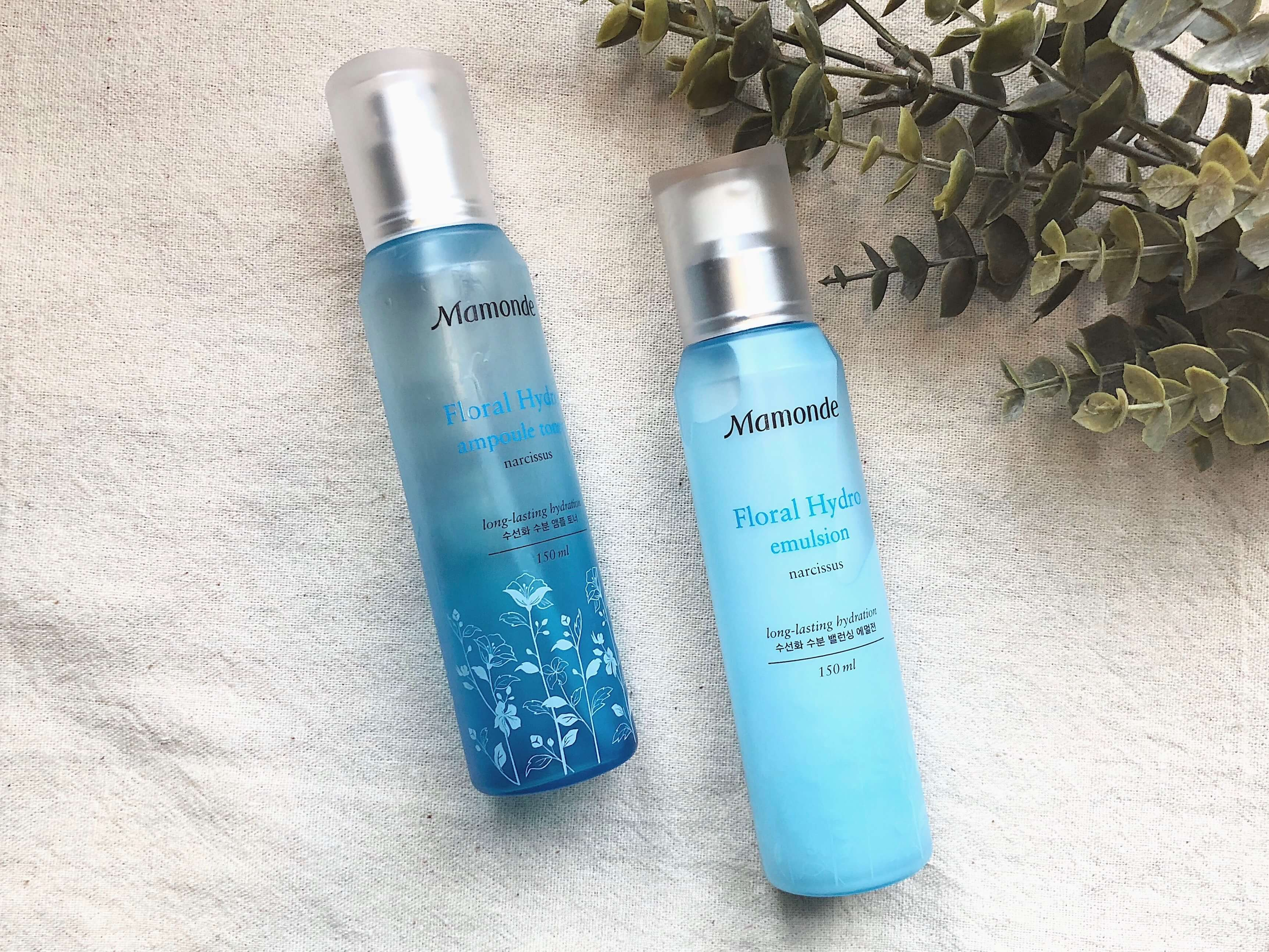 Mamonde Floral Hydro Ampoule Toner and Emulsion